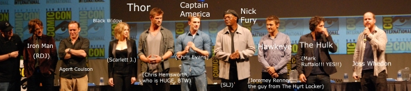 The cast of The Avengers.