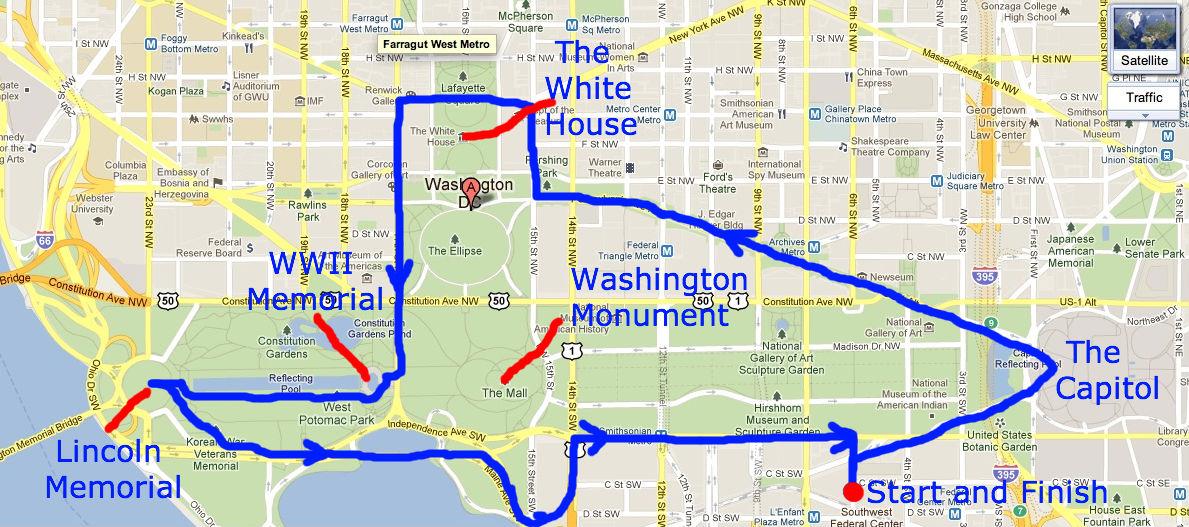 Lively image pertaining to printable walking map of washington dc
